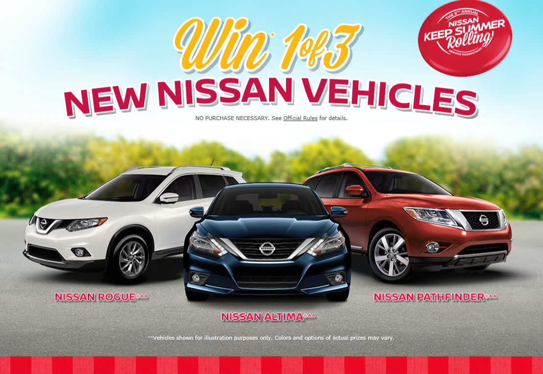 The Nissan Keep Summer Rolling Service Sweepstakes is Back