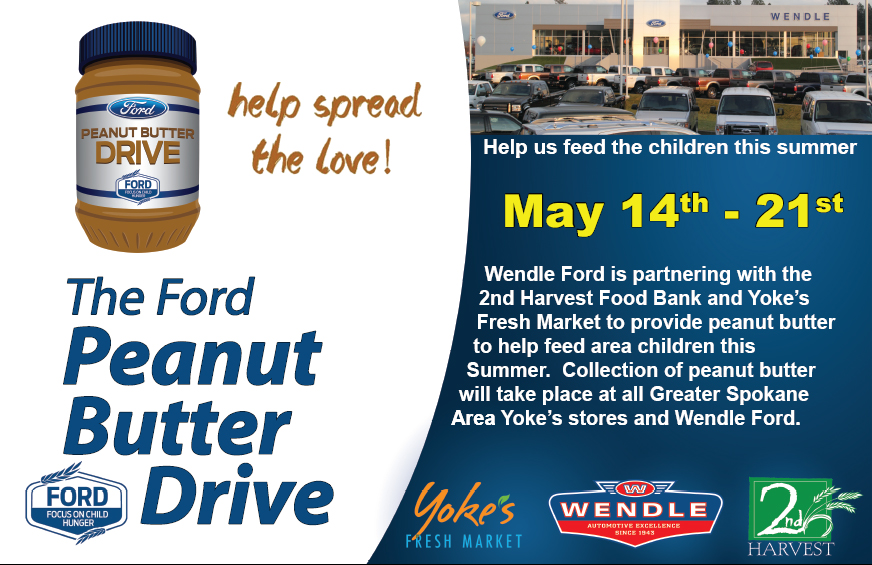 ford peanut butter drive  community