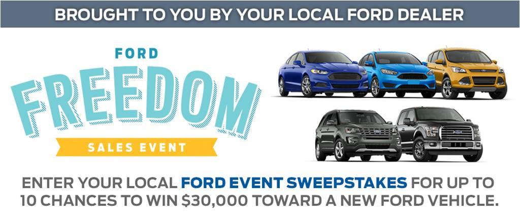 Ford Event Sweepstakes 2016 | Spokane Auto Dealer News