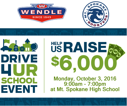 Drive 4 Ur School >> Drive 4 Ur School At Mt Spokane High School With Wendle Ford Of