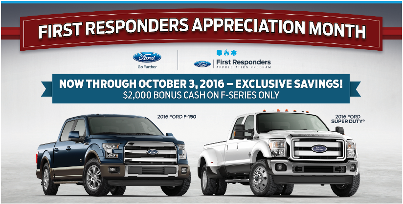 Ford First Responder >> First Responders Bonus Cash Promotions Events
