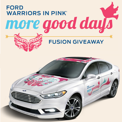 Ford Warriors in Pink More Good Days Fusion Giveaway