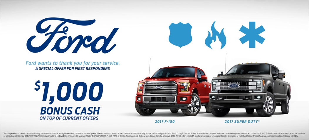Ford First Responder >> First Responder Program At Wendle Ford In Spokane Wa